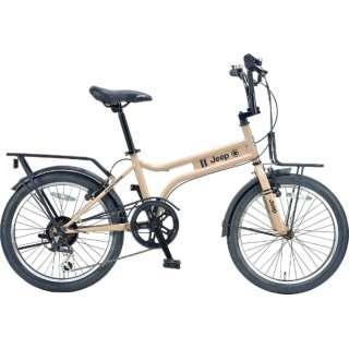 20型 自転車 JEEP JE-206MX(SAND/外装6段変速) JE-206MX【2021年モデル】 【組立商品につき返品不可】