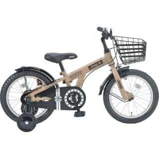 16型 子供用自転車 JEEP JE-16G(SAND/シングルシフト) JE-16G【2021年モデル】 【組立商品につき返品不可】