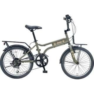 20型 自転車 JEEP JE-206MX(OLIVE/外装6段変速) JE-206MX【2021年モデル】 【組立商品につき返品不可】