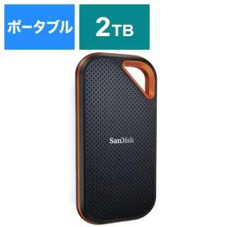 SDSSDE81-2T00-J25 外付けSSD USB-C+USB-A接続 エクストリームプロ V2 [2TB /ポータブル型]