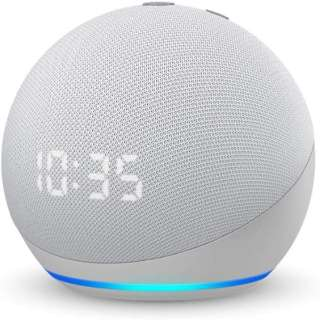 Echo Dot (エコードット) 第4世代 - 時計付きスマートスピーカー with Alexa グレーシャーホワイト B084J4TR39 [Bluetooth対応 /Wi-Fi対応]
