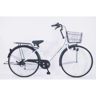 26型 自転車 ダカラットベース(パールホワイト/外装6段変速) FV-B266B-C【2021年モデル】 【組立商品につき返品不可】