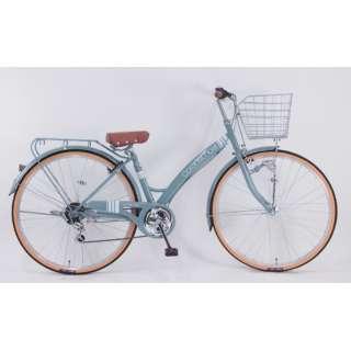 27型 自転車 コロネットノエル(グレー/外装6段変速) CA_W276BK_HD_BAA_C【2021年モデル】 【組立商品につき返品不可】