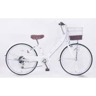 24型 子供用自転車 ダカラットアンジュ(ホワイト/外装6段変速) JRV_W246BA_HD_BAA_C【2021年モデル】 【組立商品につき返品不可】