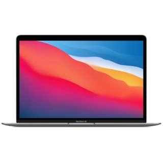 MGN63J/A 13インチMacBook Air: 8コアCPUと7コアGPUを搭載したApple M1チップ 256GB SSD - スペースグレイ [13.3型 /SSD:256GB /メモリ:8GB /2020年モデル]