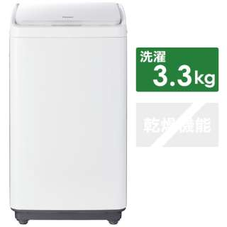 全自動洗濯機 ホワイト JW-C33A [洗濯3.3kg /上開き]
