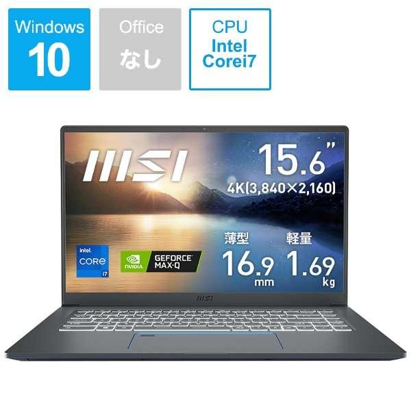 ノートパソコン Prestige 15 A11(4K) カーボングレイ Prestige-15-A11SCS-032JP [15.6型 /intel Core i7 /SSD:1TB /メモリ:32GB /2020年11月モデル]