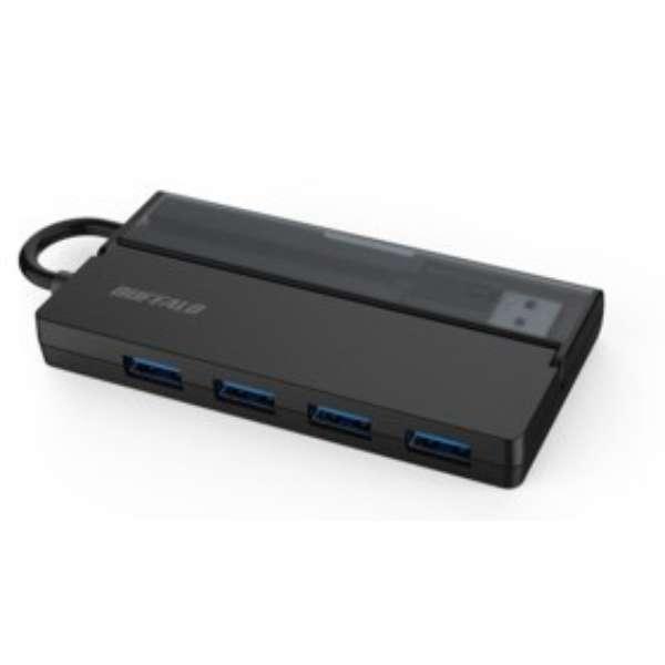 BSH4U138C1BK USB-C → USB-A 変換ハブ FLEXUS ブラック [USB3.1対応 /4ポート /バスパワー]