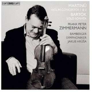 フランク・ペーター・ツィンマーマン(vn)/ マルティヌー:ヴァイオリン協奏曲第1&2番、バルトーク:無伴奏ヴァイオリン・ソナタ 【CD】