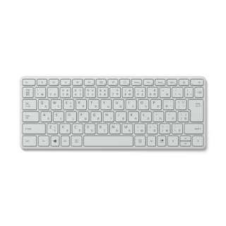 キーボード Designer Compact Glacier 21Y-00049 [Bluetooth /ワイヤレス]