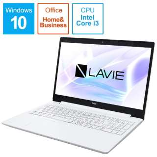 PC-NS300N2W-H6 ノートパソコン PC-NS300N2W-H6 LAVIE Note Standard カームホワイト [15.6型 /intel Core i3 /HDD:500GB /メモリ:4GB /2021年1月]