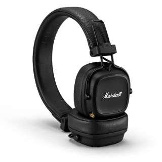 ブルートゥースヘッドホン MAJOR-IV-BLACK [リモコン・マイク対応 /Bluetooth]