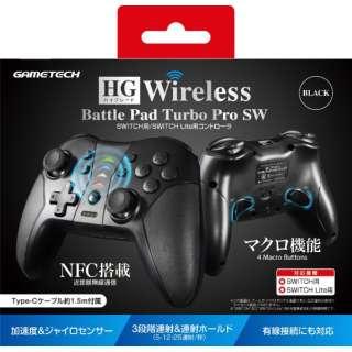 HGワイヤレスバトルパッドターボProSW ブラック SWF2283 【Switch】