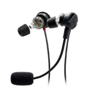 ADVNISMO3D-BLK ゲーミングヘッドセット NSMO 3D ブラック [φ3.5mmミニプラグ /両耳 /イヤホンタイプ]