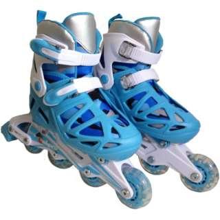 ジュニア インラインスケート コンボセット (Sサイズ:18cm~20cm/ライトブルー) CA-475F