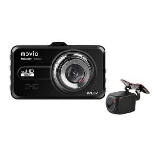 ドライブレコーダー movio MDVR301FHDREAR [Full HD(200万画素) /前後カメラ対応 /駐車監視機能付き]