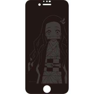 iPhoneSE(第2世代)/8/7/6 ガラススクリーンプロテクター 鬼滅の刃 竈門禰豆子 KMY-40B