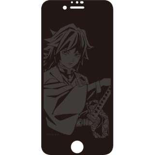 iPhoneSE(第2世代)/8/7/6 ガラススクリーンプロテクター 鬼滅の刃 富岡義勇 KMY-40C