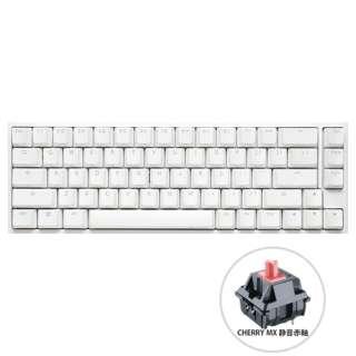 ゲーミングキーボード One 2 SF RGB Cherry 静音赤軸(英語配列) Pure White dk-one2-rgb-sf-pw-silentred [USB /有線]