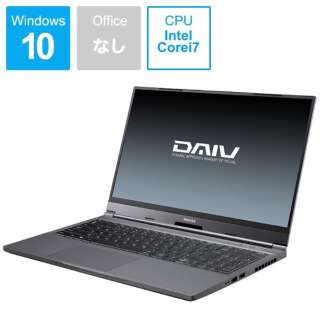D5N201101 ノートパソコン DAIV [15.6型 /intel Core i7 /SSD:1TB /メモリ:32GB]