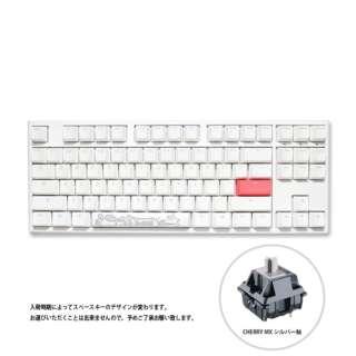 Cherry シルバー軸 英語配列 メカニカルキーボード One 2 TKL RGB Cherry シルバー軸(英語配列) Pure White dk-one2-rgb-tkl-pw-silver [USB /有線]