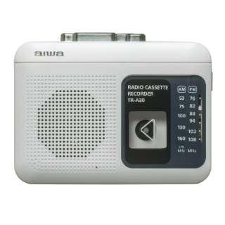 ラジオ付きカセットレコーダー ホワイト TR-A30W [ラジオ機能付き]