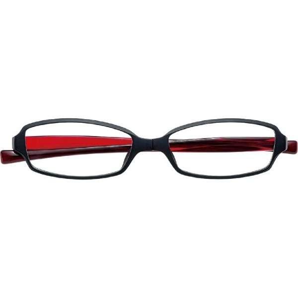 変なメガネ(老眼鏡) HM1001 C-1(ブラック・レッド/+1.00)