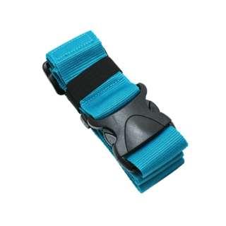 スーツケースベルト ワンタッチタイプ ブルー