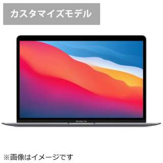 MGN63JA/CTO【英語(米国)キーボード カスタマイズモデル】13インチMacBook Air: 8コアCPUと7コアGPUを搭載したApple M1チップ 512GB SSD - スペースグレイ [13.3型 /SSD:512GB /メモリ:16GB /2020年モデル]