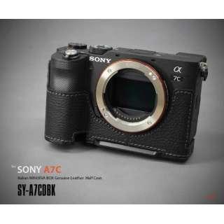 ソニー α7C用本革カメラハーフケース ブラック SY-A7CDBK