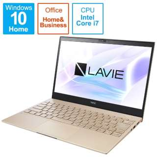 PC-PM750BAG ノートパソコン LAVIE ProMobile フレアゴールド [13.3型 /intel Core i7 /SSD:512GB /メモリ:8GB /2021年1月]