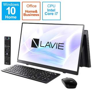 デスクトップパソコン LAVIE A23(ダブルチューナ) ファインブラック PC-A2377BAB [23.8型 /intel Core i7 /メモリ:8GB /SSD:1TB /2021年春モデル]