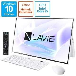 デスクトップパソコン LAVIE A27(ダブルチューナ) ファインホワイト PC-A2757BZW-2 [27型 /intel Core i5 /メモリ:16GB /SSD:1TB /2021年春モデル]