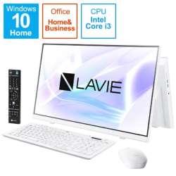 デスクトップパソコン LAVIE A23(ダブルチューナ) ファインホワイト PC-A2336BZW-2 [23.8型 /intel Core i3 /メモリ:8GB /SSD:512GB /2021年春モデル]