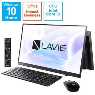 デスクトップパソコン LAVIE A23(ダブルチューナ) ファインブラック PC-A2336BZB-2 [23.8型 /intel Core i3 /メモリ:8GB /SSD:512GB /2021年春モデル]