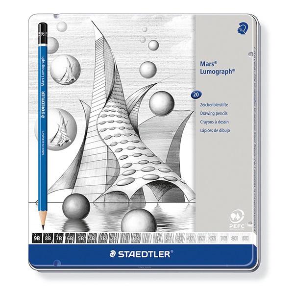 ルモグラフ鉛筆20硬度セット 100G20