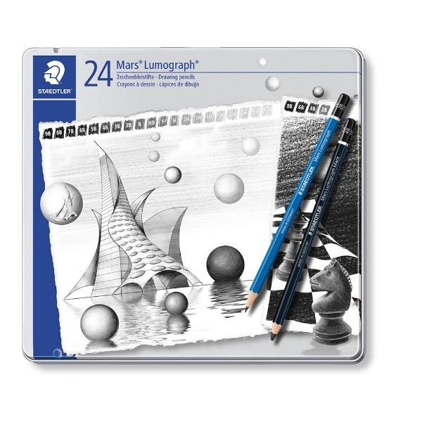 ルモグラフアソートセット24硬度セット 100G24S