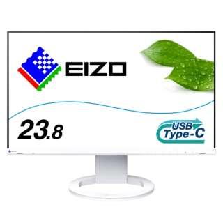 EV2480-WT USB-C接続 PCモニター FlexScan ホワイト [23.8型 /ワイド /フルHD(1920×1080)]