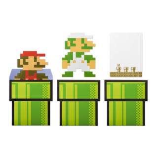 スーパーマリオ ホーム&パーティ メッセージカード&封筒(8-bit キャラクター) グリーン NSL-0110
