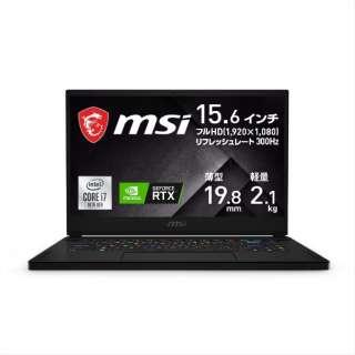 GS66-10UG-003JP ゲーミングノートパソコン GS66 Stealth 10U ブラック [15.6型 /intel Core i7 /SSD:1TB /メモリ:16GB /2021年1月モデル]