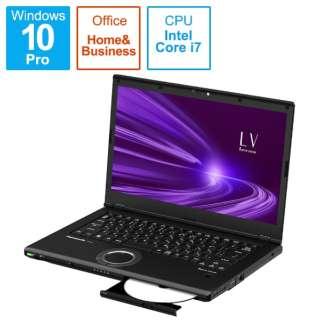 CF-LV9DDNQR ノートパソコン レッツノート LVシリーズ ブラック [14.0型 /intel Core i7 /SSD:512GB /メモリ:16GB /2021年1月モデル]