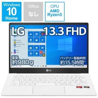 13U70P-GR54J ノートパソコン Ultra PC ホワイト [13.3型 /AMD Ryzen 5 /SSD:512GB /メモリ:8GB /2021年2月モデル]