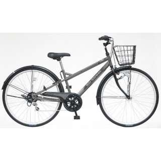 27型 自転車 ビズストリート(マットグレー/外装6段変速) SNI76S【2021年モデル】 【組立商品につき返品不可】