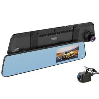 前後2カメラ  ミラー型ドライブレコーダー movio MDVR304MRREAR [前後カメラ対応 /Full HD(200万画素) /駐車監視機能付き /ミラー型]