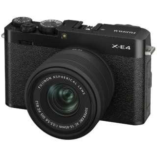 X-E4-B ミラーレス一眼カメラ XC15-45mmレンズキット ブラック FXE4LK1545B [ズームレンズ]