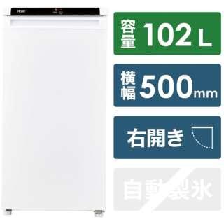 冷凍庫 ホワイト JF-NU102C-W [右開きタイプ /102L]