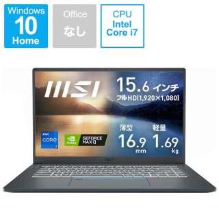ノートパソコン Prestige 15 A11 カーボングレイ Prestige-15-A11SCS-005JP [15.6型 /intel Core i7 /メモリ:16GB /SSD:512GB /2021年2月モデル]