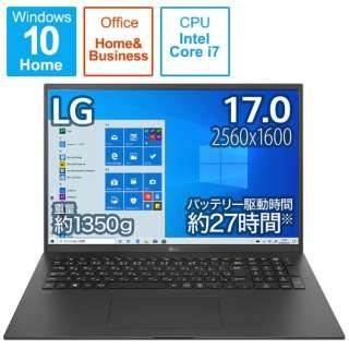 17Z90P-KA78J1 ノートパソコン gram オブシディアンブラック [17.0型 /intel Core i7 /SSD:1TB /メモリ:16GB /2021年2月モデル]