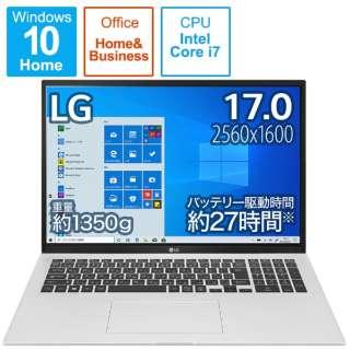 ノートパソコン gram クオーツシルバー 17Z90P-KA79J1 [17.0型 /intel Core i7 /メモリ:16GB /SSD:1TB /2021年2月発売モデル]