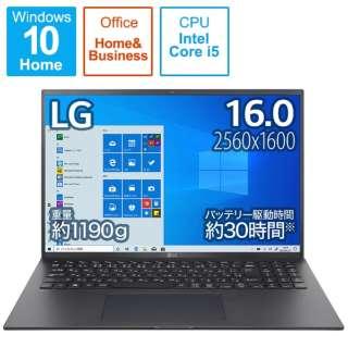 ノートパソコン gram オブシディアンブラック 16Z90P-KA52J1 [16.0型 /intel Core i5 /メモリ:8GB /SSD:512GB /2021年2月モデル]